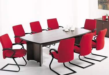 Office Furniture Board Room Table And Ergonomic Conference Chair - Red conference table